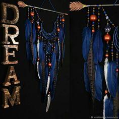 Купить Arrow Dreamcatcher Moon Dreamcatcher blue dreamcatcher copper в интернет магазине на Ярмарке Мастеров