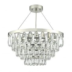 Buy Dar Lighting Sceptre 3 Light Pendant Pebble Style Clear Droppers Polished Chrome Frame online from The Lighting Company. Free UK delivery on orders over 3 Light Pendant, Ceiling Pendant, Crystal Pendant, Pendant Lighting, Ceiling Lights, Contemporary Chandelier, Modern Contemporary, Dar Lighting, Lighting Ideas