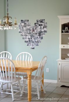 DIY Wall Photo Heart Tutorial!  Great addition to any room!