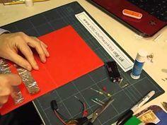 How to make a LED Christmas card - YouTube