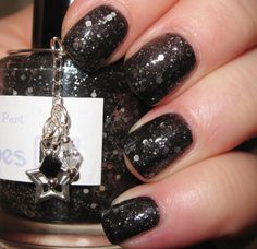 The Worthier Part glitter nail polish 15 mL .5 by TheLadyVarnishes