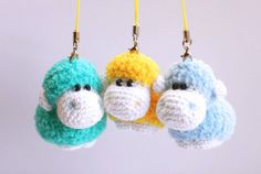 Amigurumi sheep keychain free crochet pattern