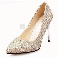 Pompe de pantofi pentru femei ascuțit toc stiletto deget de la picior cu pantofi de nunta stras mai multe culori disponibile - USD $12.95