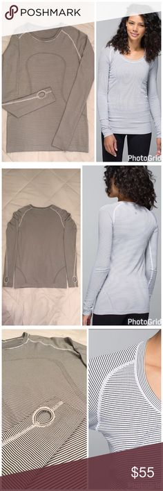 Lululemon Swiftly Tech Top This Lululemon run swiftly tech striped black/white long sleeve is the perfect running top for your workout or to wear casually with your favorite jeans. In excellent condition. Only worn once. No Trades. Consider reasonable offers. 😊 lululemon athletica Tops Tees - Long Sleeve