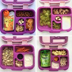 "lunchbox 1-4 Bottom right corner ""turkey, bell pepper strips, strawberry yogurt, strawberries, ranch dressing"""