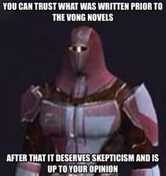 Sad to say, while we have a good foundation, the rest of the house is dodgy. We can't just follow blindly anymore. Practical Mandalorian