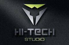 Modern Hi-Tech Logo JeksonGraphics Graphics Logos Retro Design, Free Design, Logo Design, Graphic Design, Hi Tech Logo, Tech Logos, Retro Photography, Photography Logos, Vintage Logos