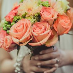 Lizzy chose shades of orange and green roses for her lively bouquet. This gorgeous arrangement was a product of Whole Foods Market in Cupertino! Photo Credit: IQ Photo Studio