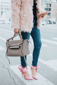 Coat, bag and shoes