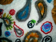 Detail from a Monster Skin, felted