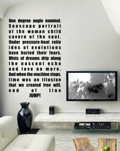 Sci-fi Battlestar Galactica BSG Hybrid quote vinyl wall decal. $30.00, via Etsy.