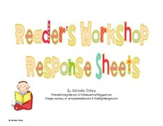This pack includes 33 Reader's Workshop Response Sheets. These are great graphic organizers for schema, connections, mental images, inferences, que...