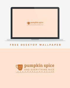 My new desktop background for fall from http://allyssabarnes.com/.  Free Pumpkin Spice Desktop Wallpaper