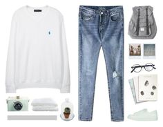 """""""and it drives me wild"""" by intanology ❤ liked on Polyvore featuring mode, Polo Ralph Lauren, Herschel, Topshop, Maison Scotch, Polaroid, L.G.R en Crate and Barrel"""