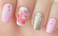 Nail Art Stickers Nail Water Decals Nail Transfers Pink Flowers Roses in Health & Beauty, Manicure & Pedicure, Nail Art Supplies Pretty Nail Colors, Pretty Nail Designs, Pretty Nails, Nail Water Decals, Nail Art Stickers, Rose Nails, Flower Nails, Nail Care Tips, Nail Tips