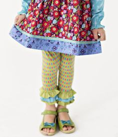 Matilda Jane Paint By Numbers Emerald Argyle Leggings Have size 12