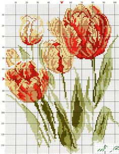 This Pin was discovered by Ann Just Cross Stitch, Cross Stitch Flowers, Cross Stitch Charts, Cross Stitch Designs, Cross Stitch Patterns, Cross Stitching, Cross Stitch Embroidery, Embroidery Patterns, Hand Embroidery
