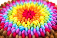 Chocolate Rainbow Smarties Cake
