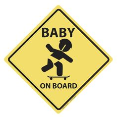 Baby on Board vinyl Decal (skateboard)