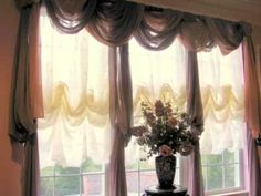 Watch how easy it can be to turn any window scarf into beautiful swags by pinning the scarf into our foam rod.