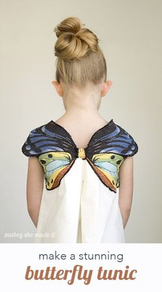 Add a beautiful woven butterfly to any shirt or tunic with this tutorial. Perfect for a costume or for every day. Too small for a grown up, but gives me ideas!