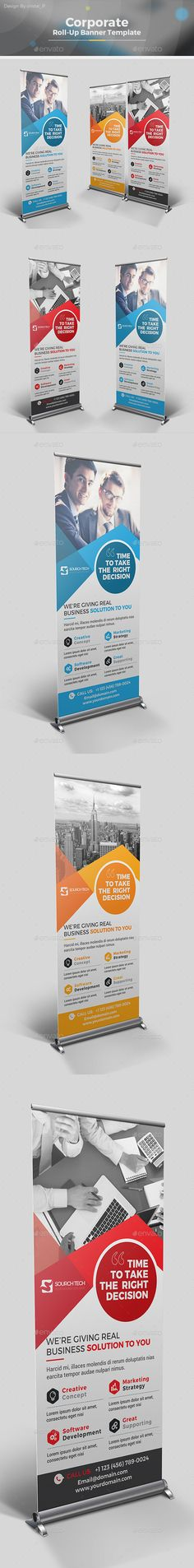 Corporate Roll-up Banner Template AI Illustrator