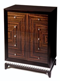 Art Deco #Macassar Ebony Tall Boy