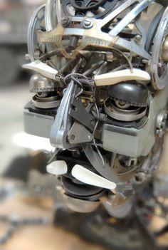 Arte con maquinas de escribir recicladas