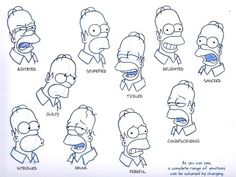 The Art of the Simpsons: Original Model Sheets Simpsons Drawings, Simpsons Tattoo, Simpsons Art, Cartoon Drawings, Art Drawings, Character Model Sheet, Character Design, Simpsons Characters, Geek Decor