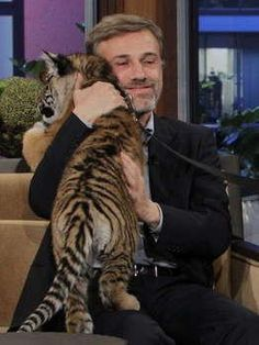 Christoph Waltz and a tiger  Are you kidding me?