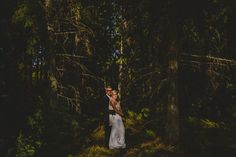 Wedding Portrait in Forest.