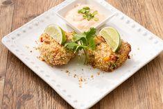 « Crabcake » santé cuit au four!  229 calories / 18 g glucides / 25 g protéines / 7 g lipides / 2 g fibres