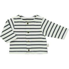 Cardigan stripes Carbon / milk