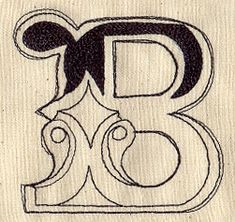 Cirque Letter B design (UT3667) from UrbanThreads.com