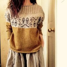 Ravelry: Acorn – sewn, knitted … – # sewn … – The Best Ideas Ravelry, Fair Isle Knitting, Hand Knitting, Tejido Fair Isle, Poncho Pullover, How To Purl Knit, Mode Inspiration, Sewing Clothes, Knit Dress