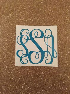 A personal favorite from my Etsy shop https://www.etsy.com/listing/269350917/monogram-decal