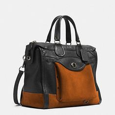 Coach :: RHYDER 33 COLORBLOCK SATCHEL IN LEATHER #Christmasyouwillbemine