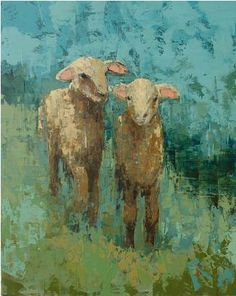 Lambs (meadow) oil, wax, marble dust, sand on canvas 42 x 36 by Rebecca Kinkead. love this....