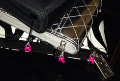 #BreastCancerAwareness charms on Gentle Jewelry Case for travel