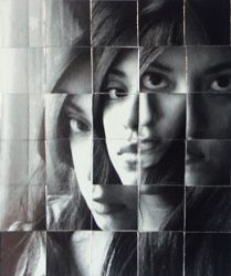 Fractured Portrait. I like the use of different images so the persons eye is facing 3 different directions.
