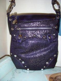 Purple Kathy Van Zeeland Crossbody Sling handbag 2e6e6c7751241