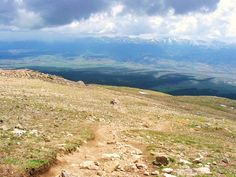 Hiking up Mt Elbert, Near Leadville, Colorado. Highest peak in Colorado. 14,433 ft.