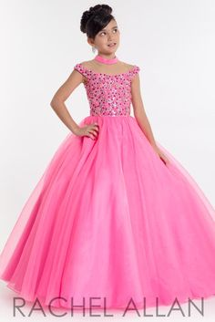 Pick crown-worthy pageant dresses designs from Rachel Allan Prima Donna Collection: lace evening pageant gowns, beauty contests dress, & princess prom dresses. Little Girl Princess Dresses, Girls Fancy Dresses, Princess Prom Dresses, Gowns For Girls, Smocked Baby Dresses, Tulle Dress, Pageant Dresses, Homecoming Dresses, White Baby Dress