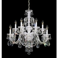 Crystal Chandelier in Gold Finish