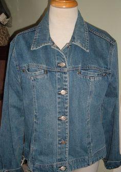 80s denim jacket  blue jean jacket  retro 80s blue by LoganLands, $17.99