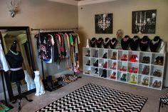 Small room = walk in closet