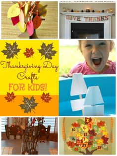 Thanksgiving Day Crafts for your munchkins! DIY decor and crafts!
