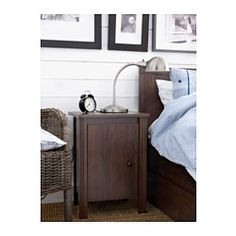 IKEA - BRUSALI, Nightstand, , The door can be hung to open either right or  left.Inside there is room for an outlet strip for your chargers.You can run the plug to the outlet through the back.