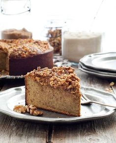 Gluten Free Pumpkin Walnut Cake Recipe #GlutenFree #SimplyGlutenFree