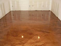 Metallic epoxy floors.